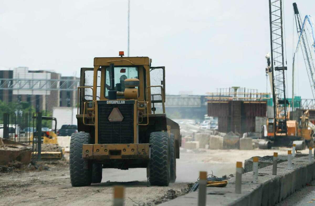 Construction on the Interstate 69 and Loop 610 interchange in Uptown Houston, seen on July 11, 2019, is part of a $287 million rebuild of the freeway partly paid for by money aimed directly at high-congestion metro areas.