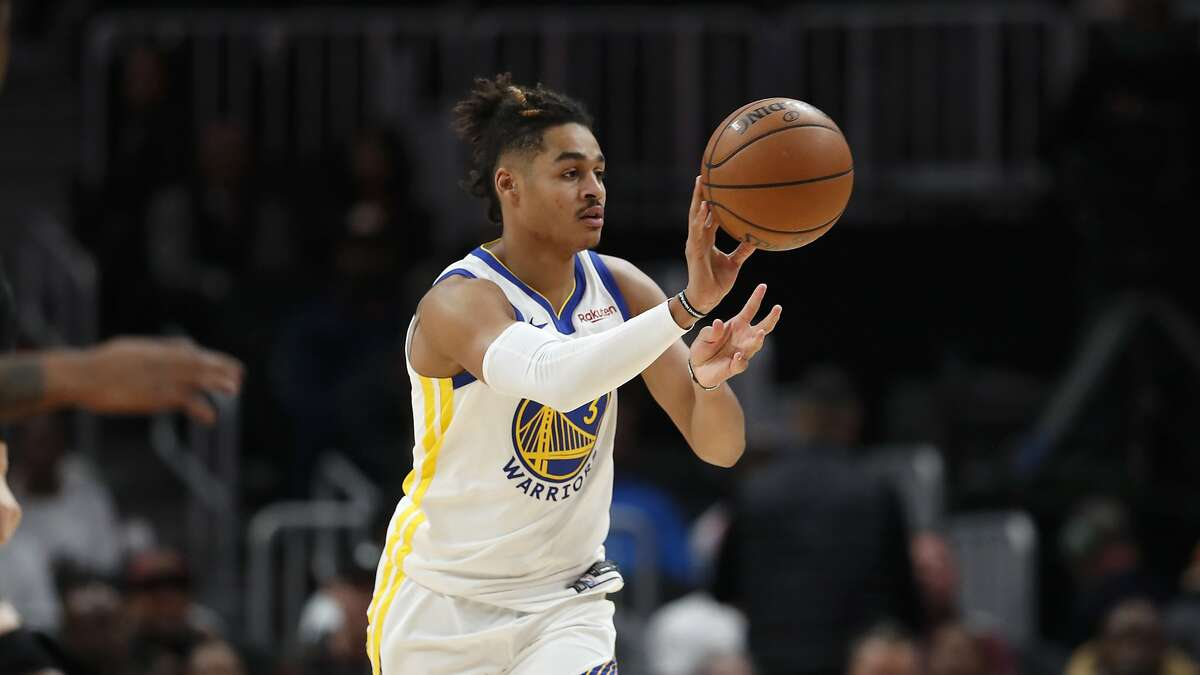 Golden State Warriors guard Jordan Poole (3) is shown in action against the Atlanta Hawks in the second half of an NBA basketball game Monday, Dec. 2, 2019, in Atlanta. The Hawks won 104-79. (AP Photo/John Bazemore)