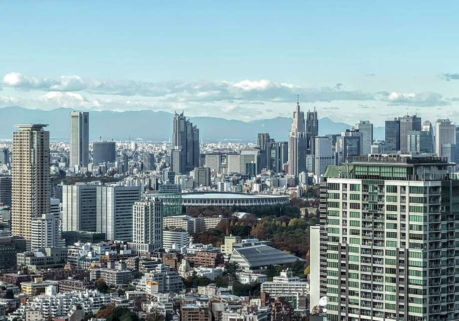 Looking north from the Okura Tokyo hotel, guests can see the brand new National Stadium, home to the 2020 Summer Olympic Games opening and closing ceremonies. Photo: Chris McGinnis