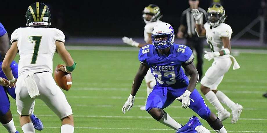 Cypress Creek High School senior linebacker Josh White (No. 33) is among 10 finalists for the Touchdown Club of Houston Defensive Player of the Year award. Photo: CFISD