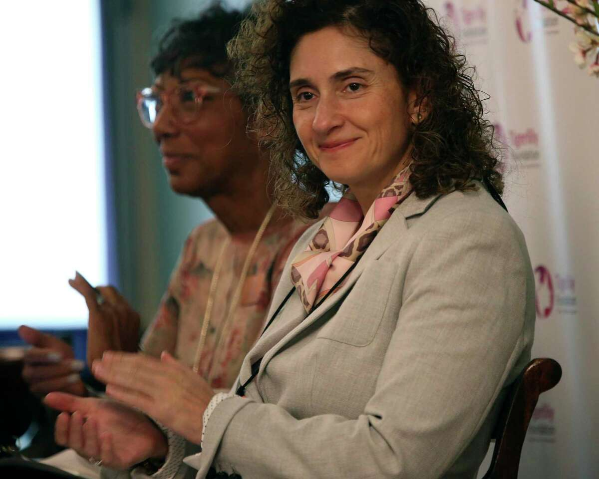 Dr. Virginia Kaklamani, clinical researcher at UT Health San Antonio, joined a panel during a training session at the Menger Hotel in San Antonio last year that held at the same time as the San Antonio Breast Cancer Symposium. This year, the symposium is virtual because of the pandemic.