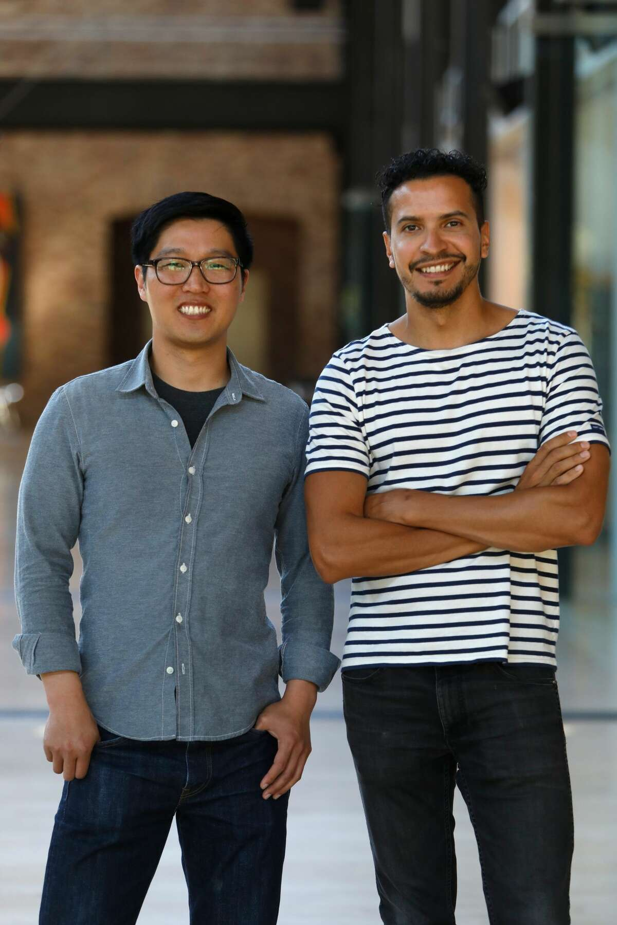 Jesus Martinez, producer, and Edwin Chang, director of the Pixar Spark short film
