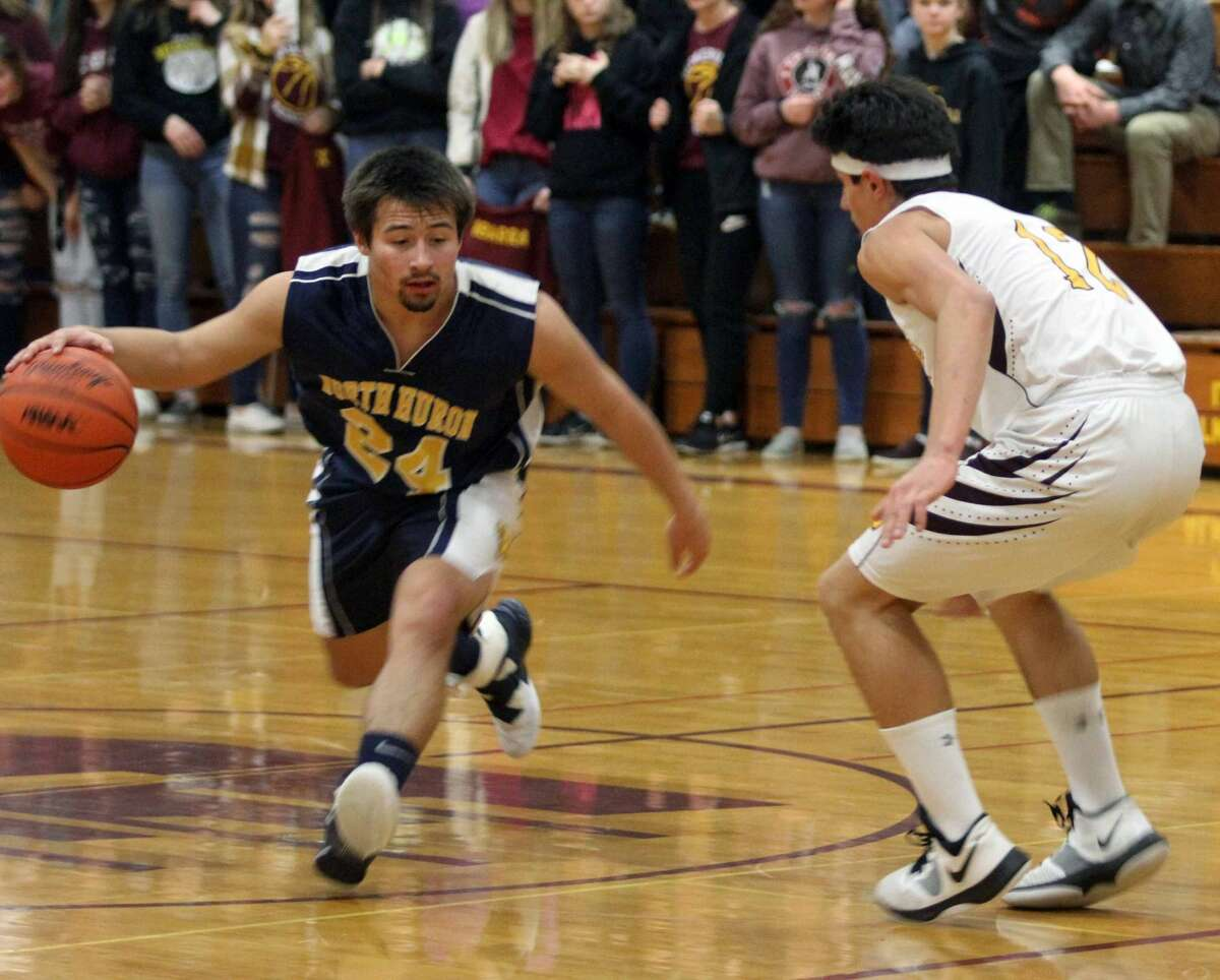 The Deckerville Eagles began the 2019-20 season with a big win over North Huron on Tuesday, Dec. 10.
