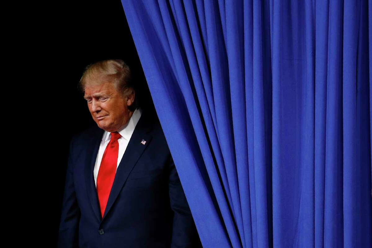 President Donald Trump walks onstage to speak at a campaign rally, Tuesday, Dec. 10, 2019,A in Hershey, Pa. (AP Photo/Patrick Semansky)