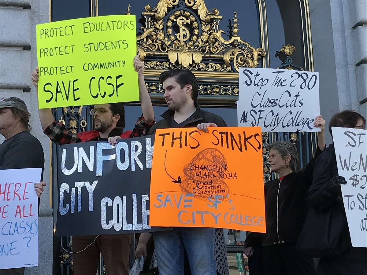 City College of SF faculty and students say the elimination of hundreds of art, music, literature, history and other classes is transforming the school from a community college to junior college.