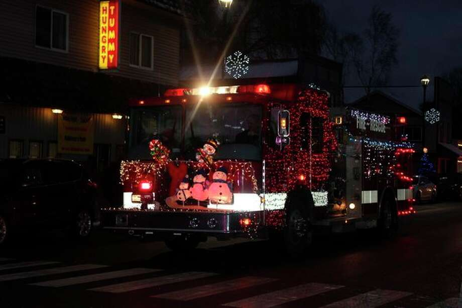 Emergency vehicles annual sport festive decorations for the Christmas Magic Parade. (File photo)