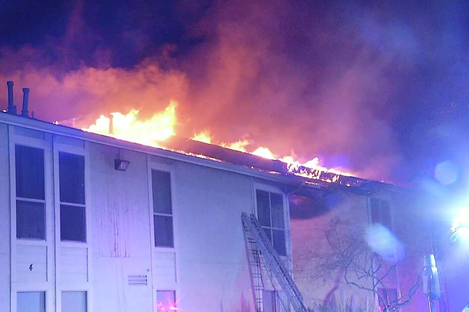 More than 50 people have been displaced after a fire ripped through an apartment complex late Tuesday night.
