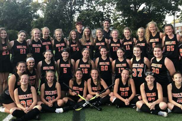 The Shelton field hockey team turned the corner this past season. The Gaelettes countered a 0-2 start to the season with a tie and two victories. Leading Shelton (front row) were Lillian Marini, Katie Bergers, Tiffany Montoya, Lucy Persson, Bailey Ovesny, Lilly Morgan, and Kendyll Flamini; (second row) Jackie Jenco, Avalina Maurati, Sammy Rago, Mya Merenda, Brooke Muller, Caroline Richmond, Zoey Pezo-Candelario, Rylee Russo and Sammie Smalick; (third row) Ashley Kearns, Victoria Stawiarski, Rachel Brown, Keira O'Connor, Rachel Kiman, Mia Dioguardi, Maeve Marks, Captain Gianna Maurati, Mary Falsetti, Cate Santa, Amelia Nankervis, Captain Emily Zerella, Amanda Kiman, Emma Gabriel and Maddie Cyr; (fourth row) assistant coach Bill Maloney and head coach Jeff Napoli. Missing from the photo are Ava Gigliotti, Ella Winfield and Erin Kovarczi.
