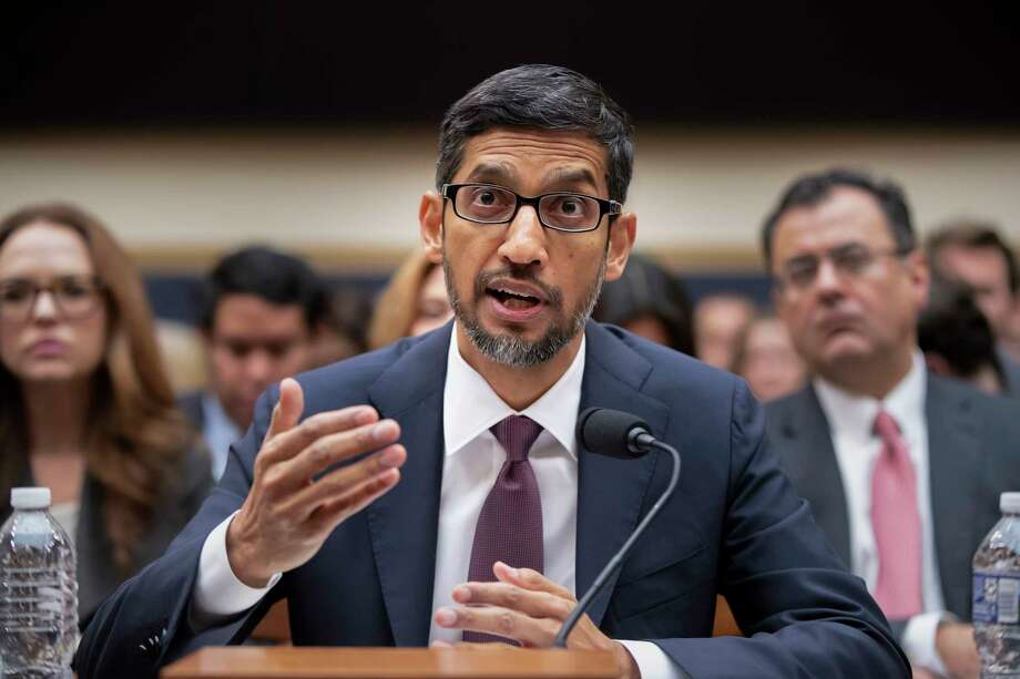 FILE - In this Dec. 11, 2018, file photo, Google CEO Sundar Pichai appears before the House Judiciary Committee to be questioned about the internet giant's privacy security and data collection, on Capitol Hill in Washington. Photo: J. Scott Applewhite, AP / Copyright 2018 The Associated Press. All rights reserved