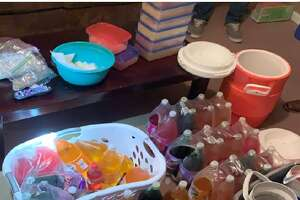"""Houston Police seized more than $15 million worth of crystal meth at a northwest Houston home last week that is believed to have been a """"storage house."""""""