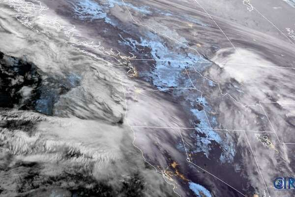 GOES 17 satellite image shows a storm moving into the Pacific Northwest on Dec. 11, 2019 (NOAA image)