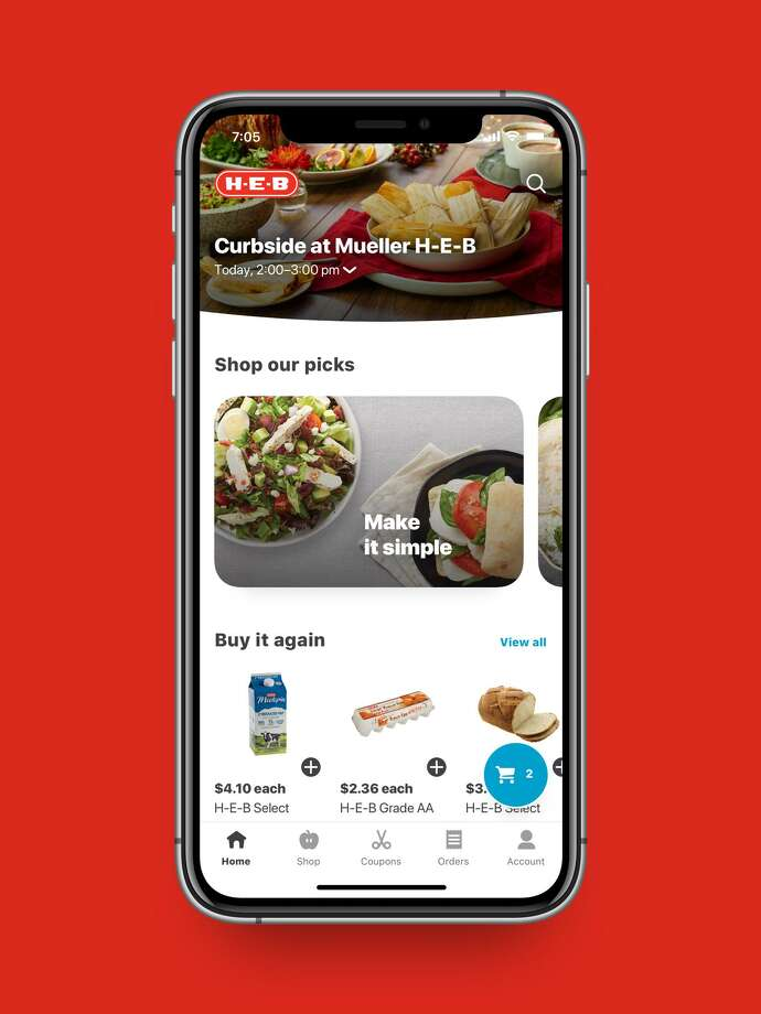 To promote social distancing, H-E-B is offering its customers a deal that can help keep them out of lines and away from large crowds. Photo: Courtesy Of H-E-B