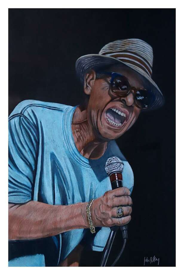 "Painting of David ""Lefty"" Foster by artist John Herz, from a photo by Herz. Photo: John Herz / Contributed"