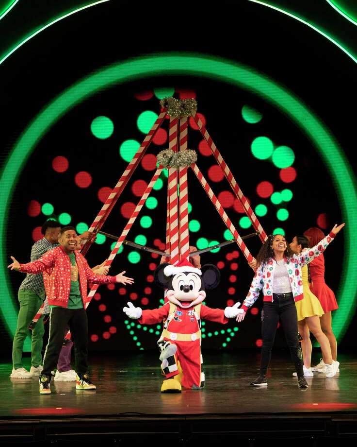 """Your preschoolers will enjoy this interactive show that includes appearances by Mickey Mouse, Minnie Mouse, Vampirina and """"Puppy Dog Pals'' Bingo and Rolly. The show is filled with holiday music such as """"Jingle Bells and """"Deck the Halls."""" Photo: Courtesy Photo / Courtesy Photo / © 2019 Disney Enterprises, Inc. All rights reserved."""