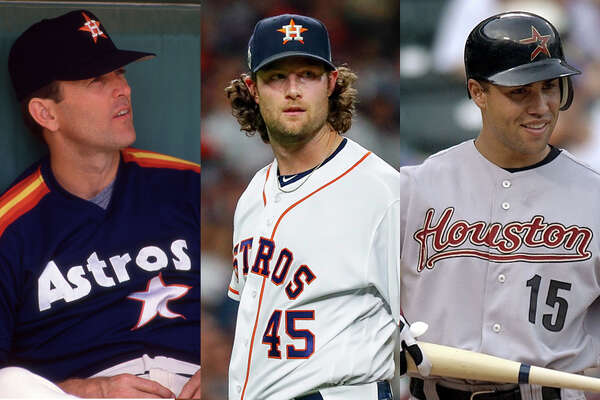 Gerrit Cole (center) joined Nolan Ryan (left) and Carlos Beltran as high-profile players to depart the Astros in free agency.