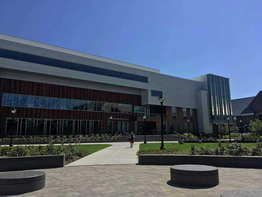 UConn opened a new 191,000-square foot Student Recreation Center on August 26, funded by new mandatory student fees. Photo: Liz Teitz