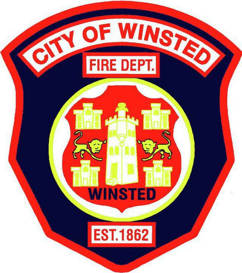 The Winsted Fire Department responded to a fire at a three-family home Tuesday morning. Photo: Winsted Fire Department / Contributed Photo