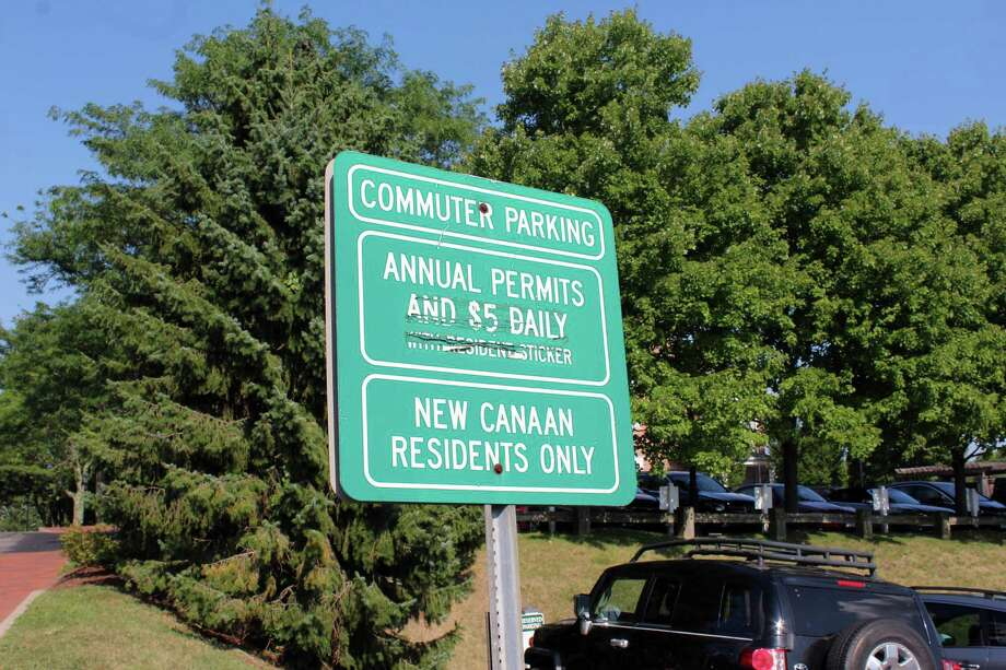 Pictured is a previous photo of a sign at the entry to the Lumberyard Lot in New Canaan, Connecticut. Photo: Justin Papp / Hearst Connecticut Media / New Canaan News