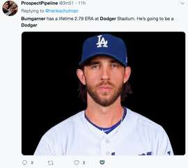 "The Athletic's Ken Rosenthal tweeted that Los Angeles ""will now shift their focus to free-agent left-hander Madison Bumgarner,"" following the Yankees' reported signing of Gerrit Cole. Here's how Twitter responded."