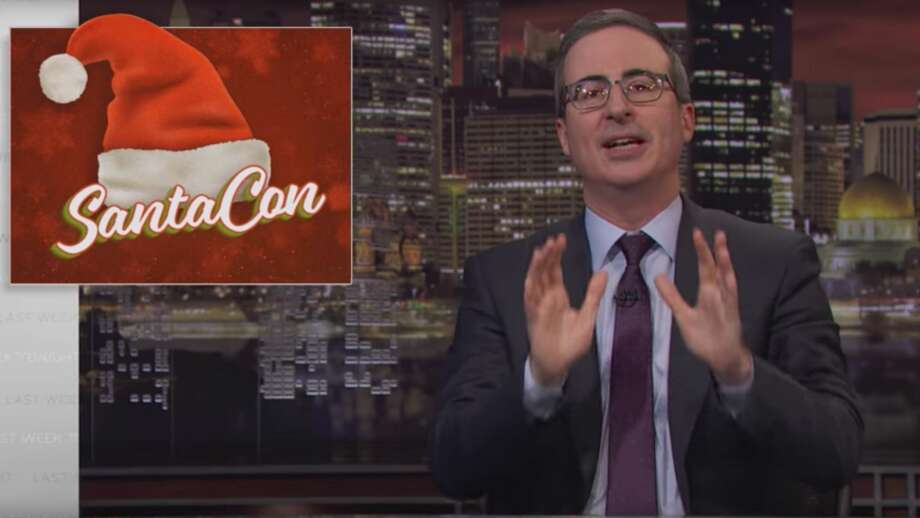 """John Oliver argues that this SantaCon should be the last on a web exclusive segment of """"Last Week Tonight."""" Photo: HBO"""