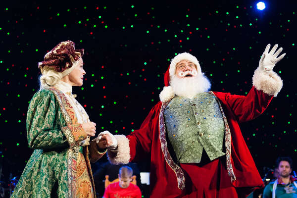 "A scene from the 2017 New York City production of ""Kris Kringle the Musical."" (Photo by Jason Woodruff/Kris Kringle the Musical.)"