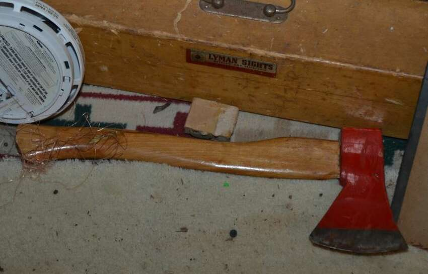 This is the hatchet used by Daniel Condon during Hamilton County incident, according to State Police.