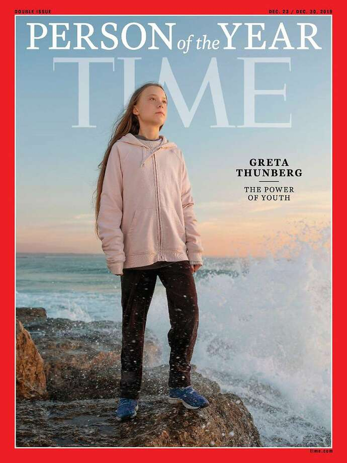 Swedish climate activist Greta Thunberg, 16, is the youngest person to be named Time's Person of the Year. MUST CREDIT: Time Photo: Time, The Washington Post