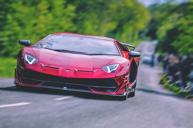 Seen in this file photo is a Lamborghini Aventador SVJ in Bedfordshire, England.
