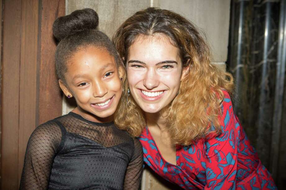 Nutmeg Big Brothers Big Sisters matched a Middletown single-parent family's two children with mentors and both are thriving in the program. Here, Little Sister Jaleah Johnson and her Big Sister Julia Adler pose for a photo. Photo: Contributed Photo / Sean Flynn