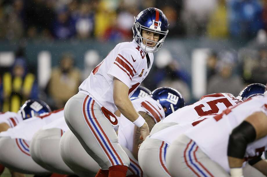 Eli Manning has been looking over his shoulder with the Giants lately. Might he have an opportunity somewhere else? Photo: Michael Perez / Associated Press