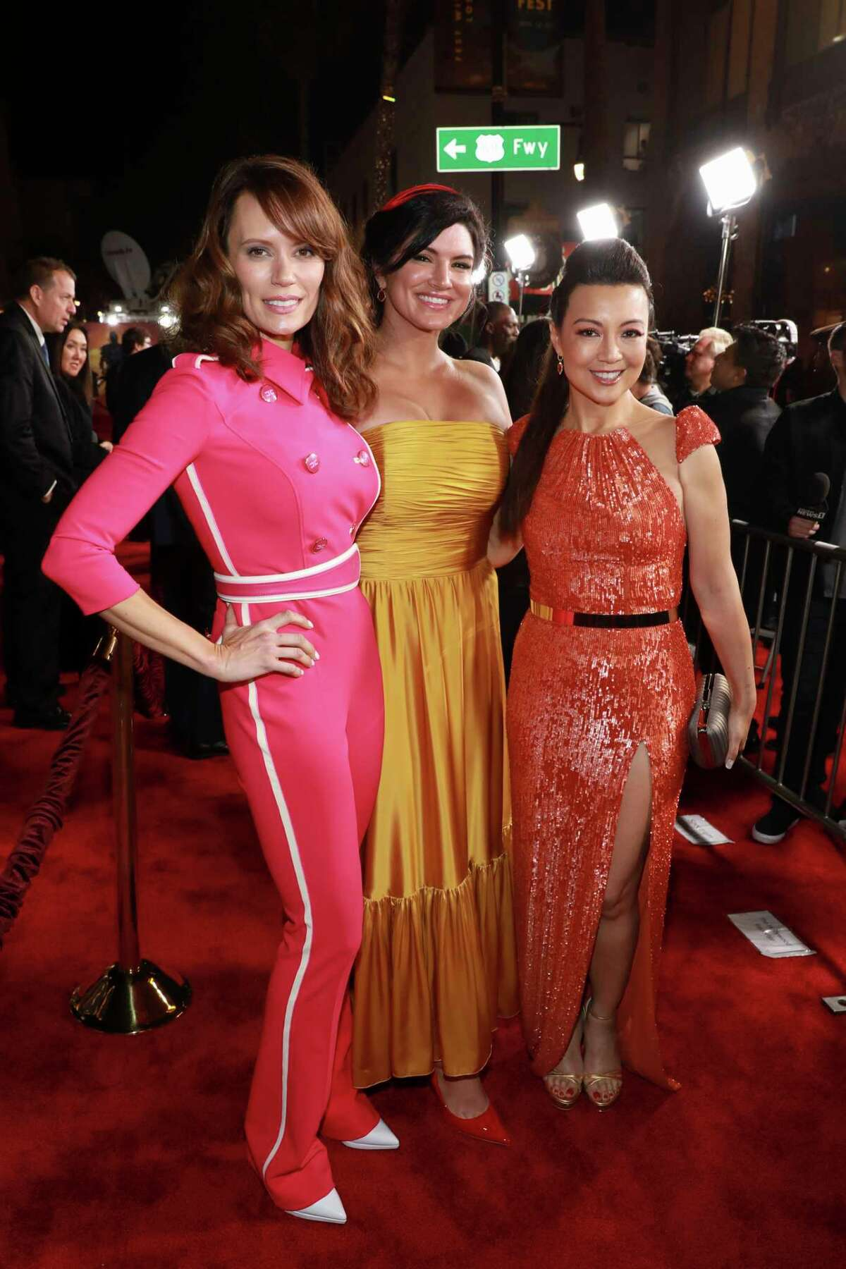 Emily Swallow, from left, Gina Carano, Ming-Na Wen attend the LA Premiere of