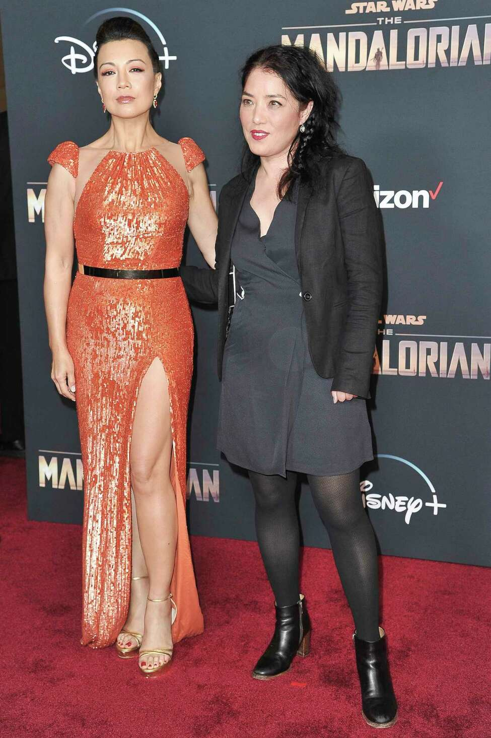 FILE - This Nov. 13, 2019 file photo shows actress Ming-Na Wen, left, and director Deborah Chow at the premiere of