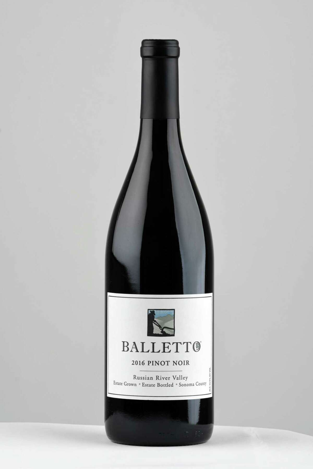 Balletto pinot noir on Tuesday, July 16, 2019, in Colonie, N.Y. (Will Waldron/Times Union)