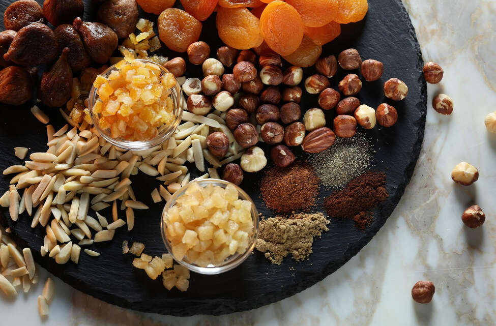 The secret to making exceptional panforte is to use high quality ingredients, including freshly ground spices; organic, farm fresh nuts and dried fruits; and a top-notch honey. (Abel Uribe/Chicago Tribune/TNS)