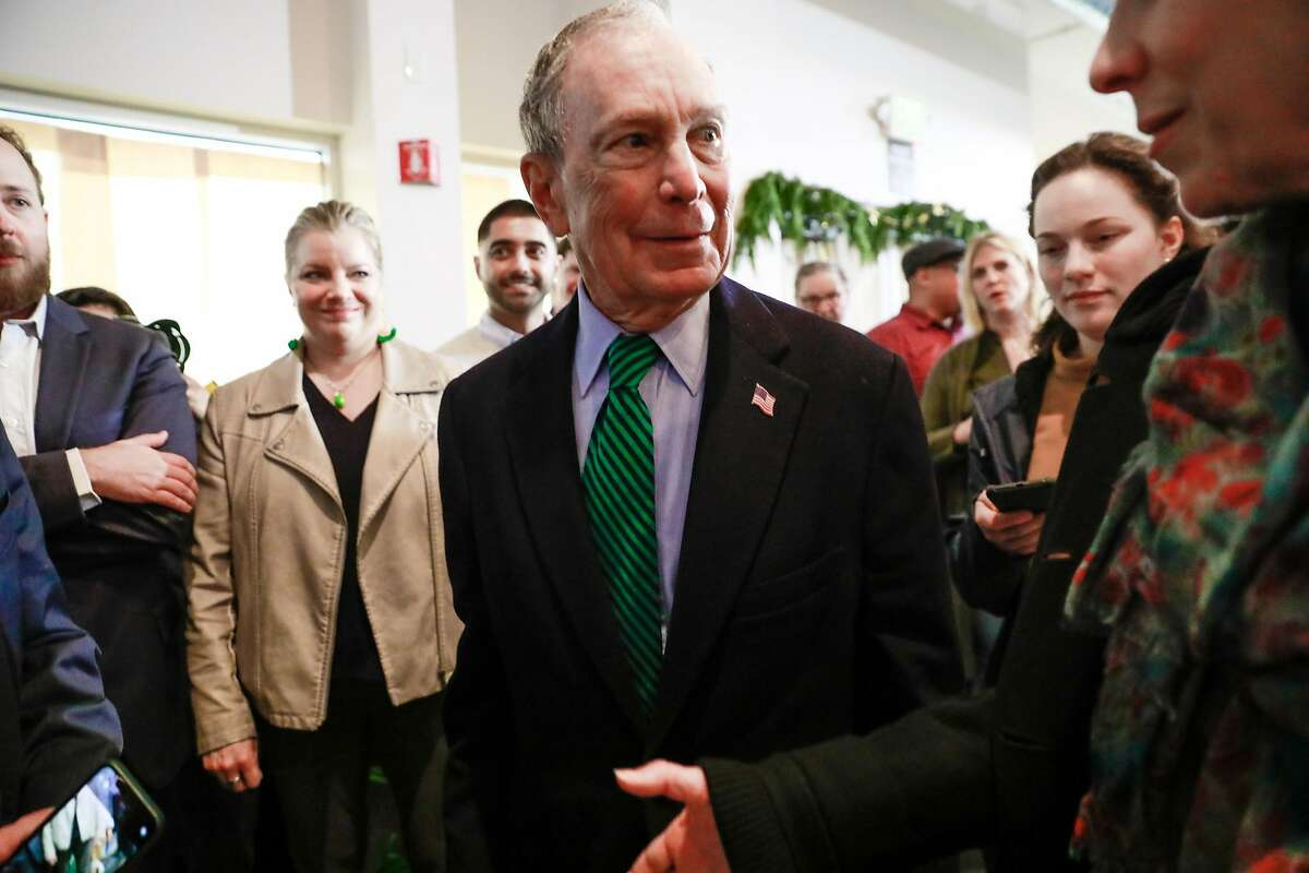 Former Mayor of New York and presidential candidate Michael Bloomberg after speaking to the community at Trail Roasters Coffee shop in Stockton, California, on Wednesday, Dec. 11, 2019.