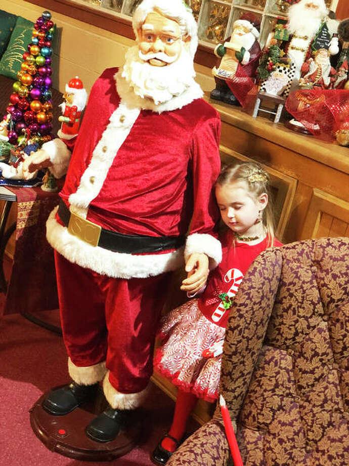 "Jolie McAfoos, 4, dreams of meeting a ""real"" Santa."