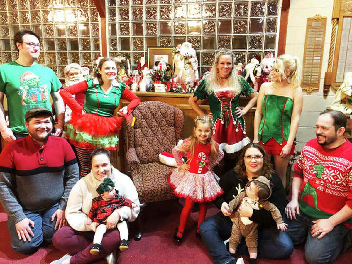 Three generations of Alton Little Theater members gather to wait the arrival of Santa, appearing at 7 p.m. Friday, Dec. 20, and Saturday, Dec. 21, at the Alton Little Theater Showplace, 2450 N. Henry St., in Alton.
