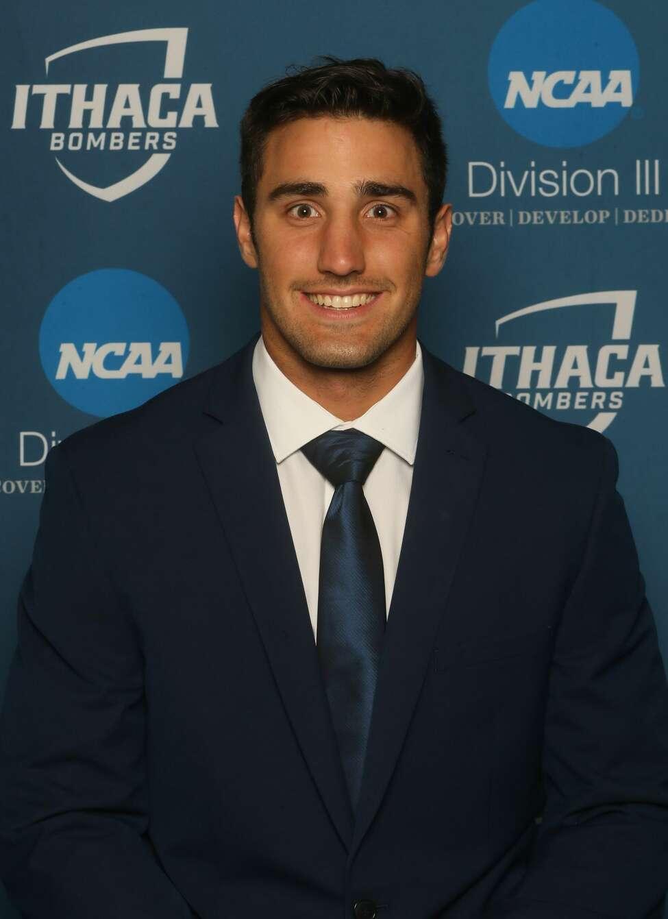 La Salle Institute graduate Joe Germinerio of the Ithaca football team. (Courtesy of Ithaca Athletics)