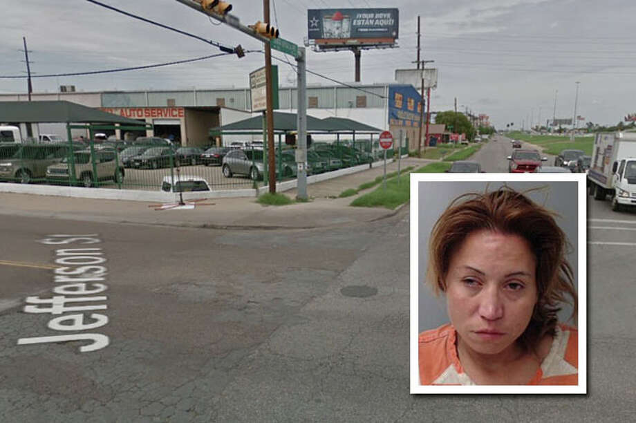 A woman landed behind bars for causing a crash and then fleeing the scene, according to Laredo police. Photo: Courtesy
