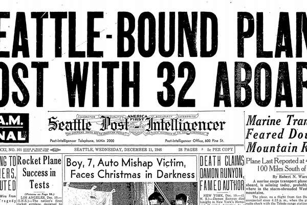 The front page of the Seattle Post-Intelligencer on Wednesday, Dec. 11, 1946.