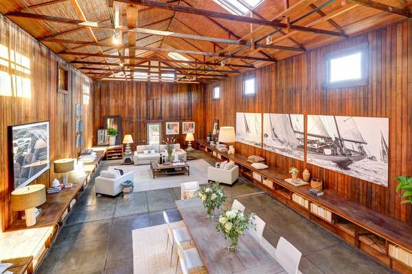 """A former records building for the Northwestern Pacific Railroad, the """"Tiburon Barn"""" is now a condo and a home."""
