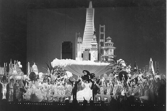 The finale at the  Beach Blanket Babylon anniversary show (probably 20th)  probably May 24, 1994