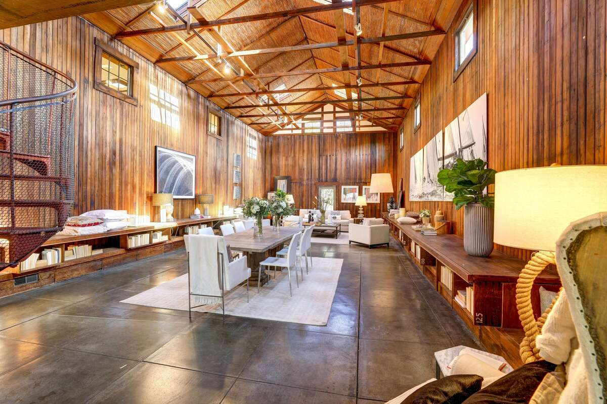 A former records building for the Northwestern Pacific Railroad, the