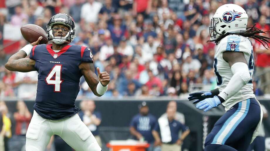 Texans QB Deshaun Watson has put up big numbers in three career starts against the Titans. The teams face off Sunday with first place in the AFC South on the line. Photo: Karen Warren, Staff / Houston Chronicle / @ 2017 Houston Chronicle