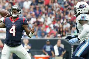 Texans QB Deshaun Watson has put up big numbers in three career starts against the Titans. The teams face off Sunday with first place in the AFC South on the line.
