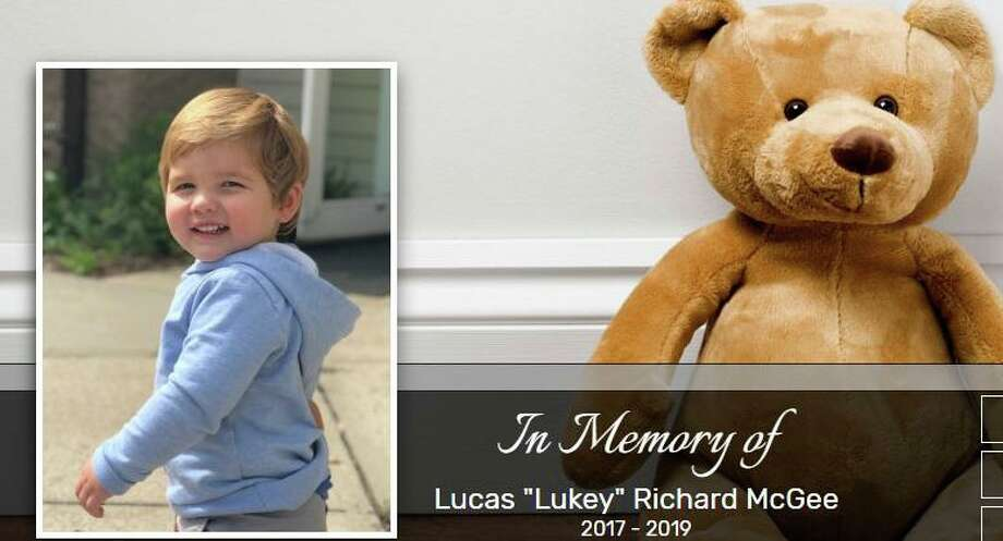 "A screenshot of the obituary for Lucas ""Lukey"" Richard McGee, the 23-month-old boy fatally hit by a vehicle in New Canaan on Tuesday. Photo: Contributed Photo"