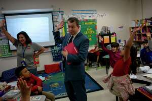 SAISD Superintendent Pedro Martinez visits a class of second graders at Hawthorne Academy last fall. Finally, people are awaking to the value of educators, but as an investment in our future and potential or as daycare?