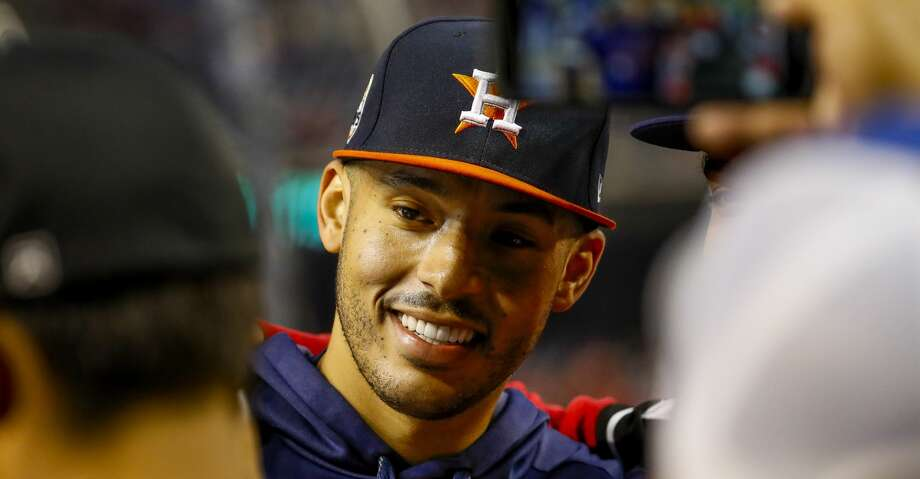PHOTOS: Astros star, pageant queen tie knot in elegant beach wedding Houston Astros shortstop Carlos Correa (1) talks with fans before Game 4 of the World Series at Nationals Park in Washington, D.C. on Saturday, Oct. 26, 2019. Browse through the photos to see social media photos from Carlos Correa's Punta Cana wedding to Daniella Rodriguez. Photo: Brett Coomer/Staff Photographer