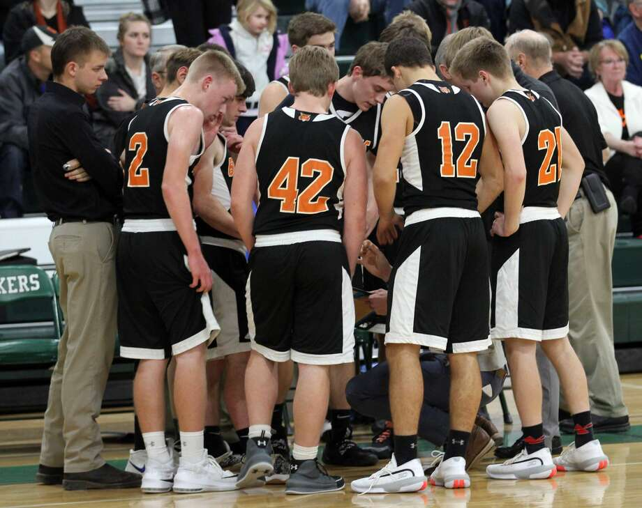 The Laker boys basketball team opened the 2019-2020 season at home with a win over the Ubly Bearcats, 52-42, on Wednesday night. Photo: Mark Birdsall/Huron Daily Tribune