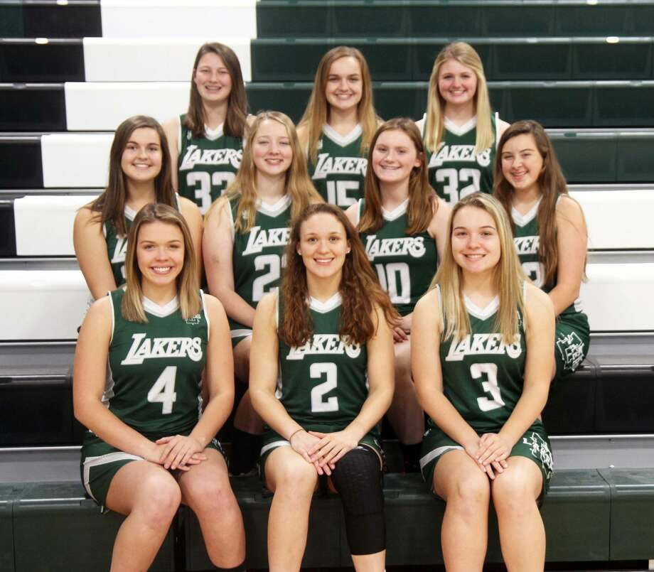 The 2019-2020 Laker girls basketball team is, front row, Lanea Rosa, Kyle Bowles and Lauren Henry; middle row, Leah Irion, Madison Helmuth, Savannah Schulz and Hannah Helmuth; and back row, Alexandria Scuddan, Emma Lee Irion and Hannah Penfold. Photo: Eric Rutter/Huron Daily Tribune